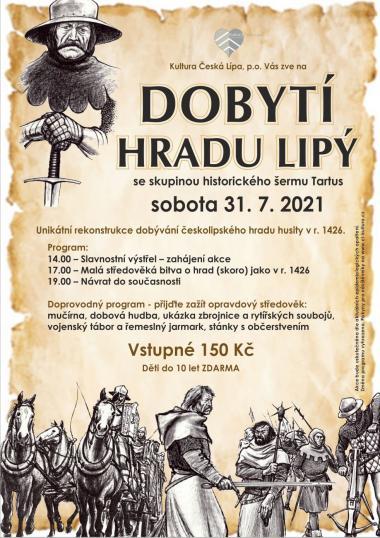 Bitva o hrad Lipý vrekonstrukci historických šermířů