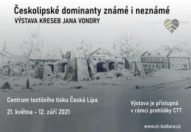 Českolipské dominanty ve výstavním prostoru Centra textilního tisku