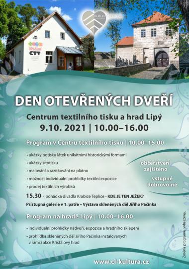 DEN OTEVŘENÝCH DVEŘÍ - Centrum textilního tisku a hrad Lipý