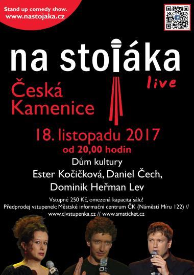 Na stojáka s Ester Kočičkovou, Danielem Čechem a Dominikem Heřmanem Lvem