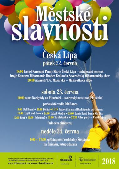 MĚSTSKÉ SLAVNOSTI ČESKÁ LÍPA 2018